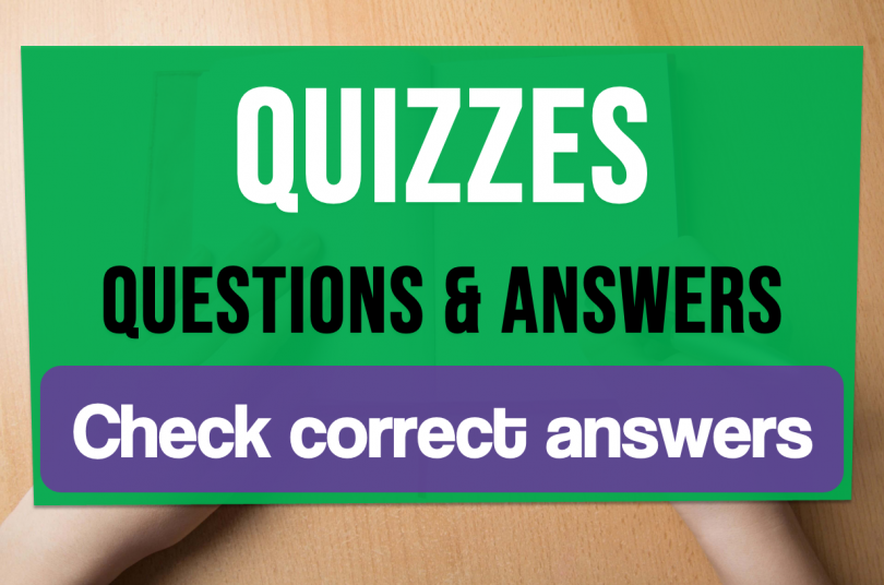 Quizzes questions and answers Check correct answers
