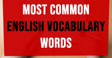 Most common english vocabulary words with meaning | Exam vocab