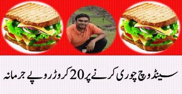 Stealing Sandwiches Fine 20 Million